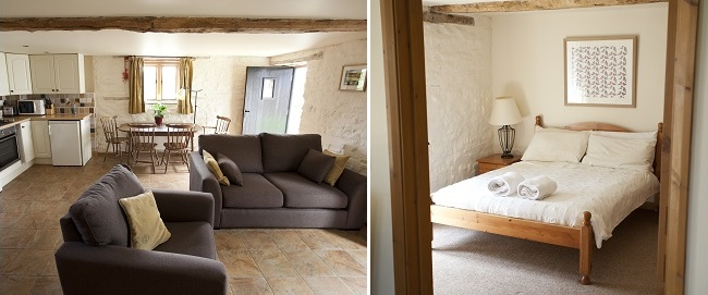 The Woolpack lounge and bedroom